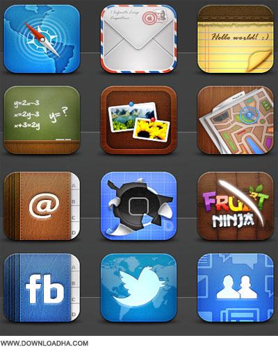 iPhone دانلود مجموعه 286 آیکون زیبای آیفون iPhone Icon Collection
